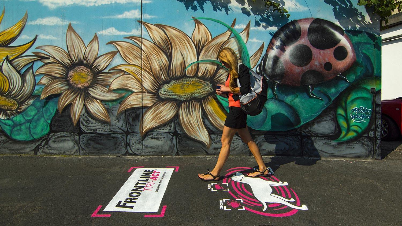 Jungle   Street advertising   Green graffiti   Frontline