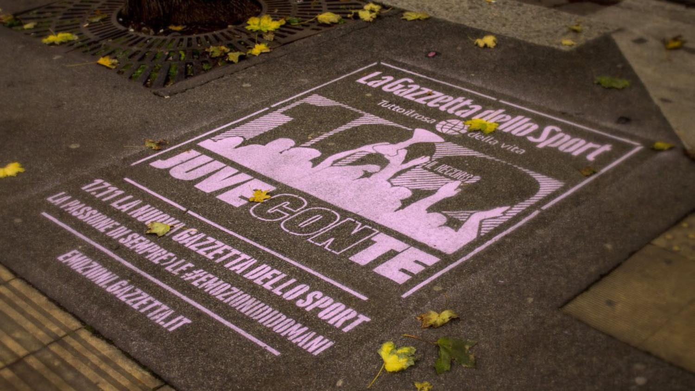 Street advertising GazzettadelloSport