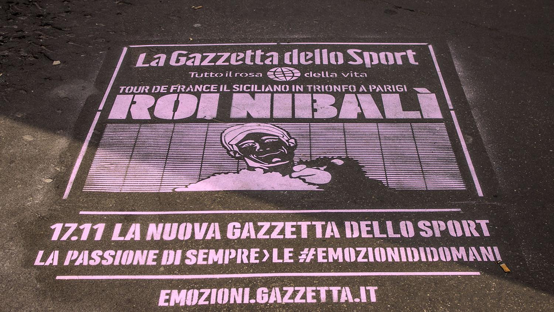 Gazzetta dello Sport   Green graffiti   Milano