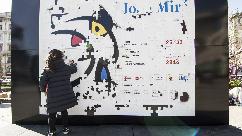 Cross media campaign JoanMiro Mudec Milano